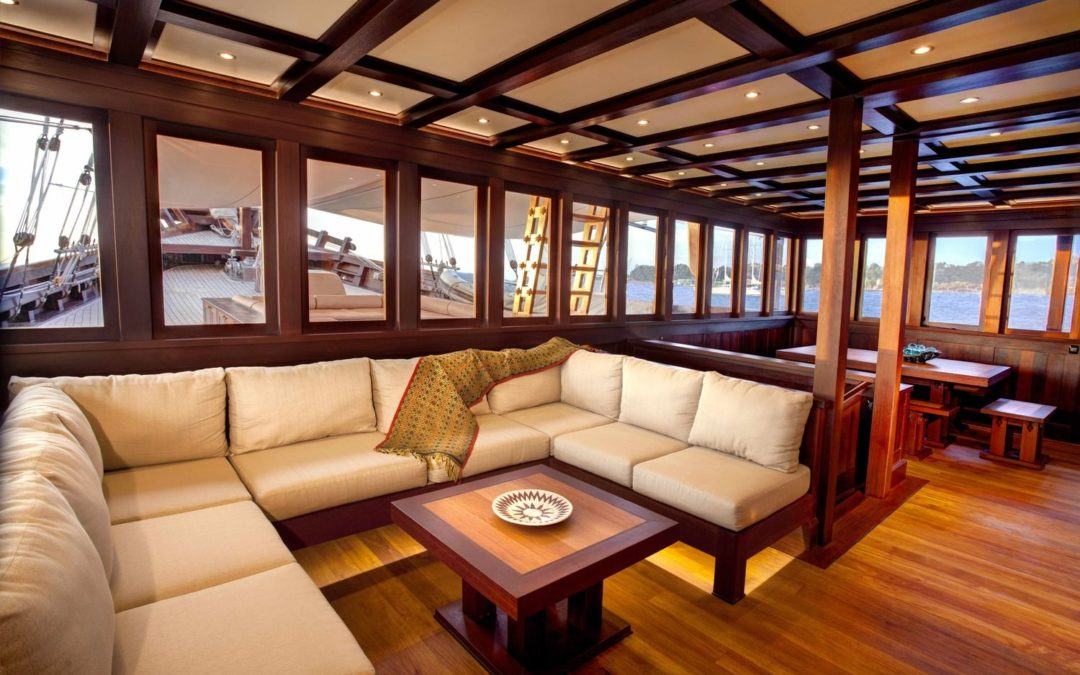 Wooden Furniture Interiors in Vogue for Luxury Boats